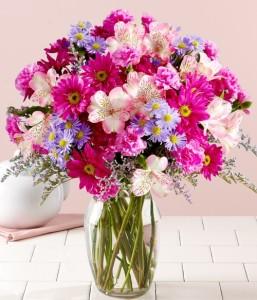 blooms in vase
